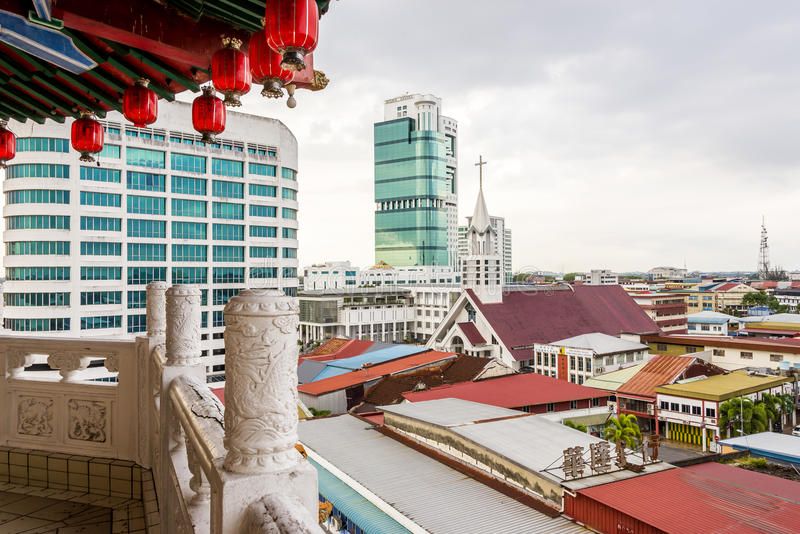 Horizon de Sibu photos stock