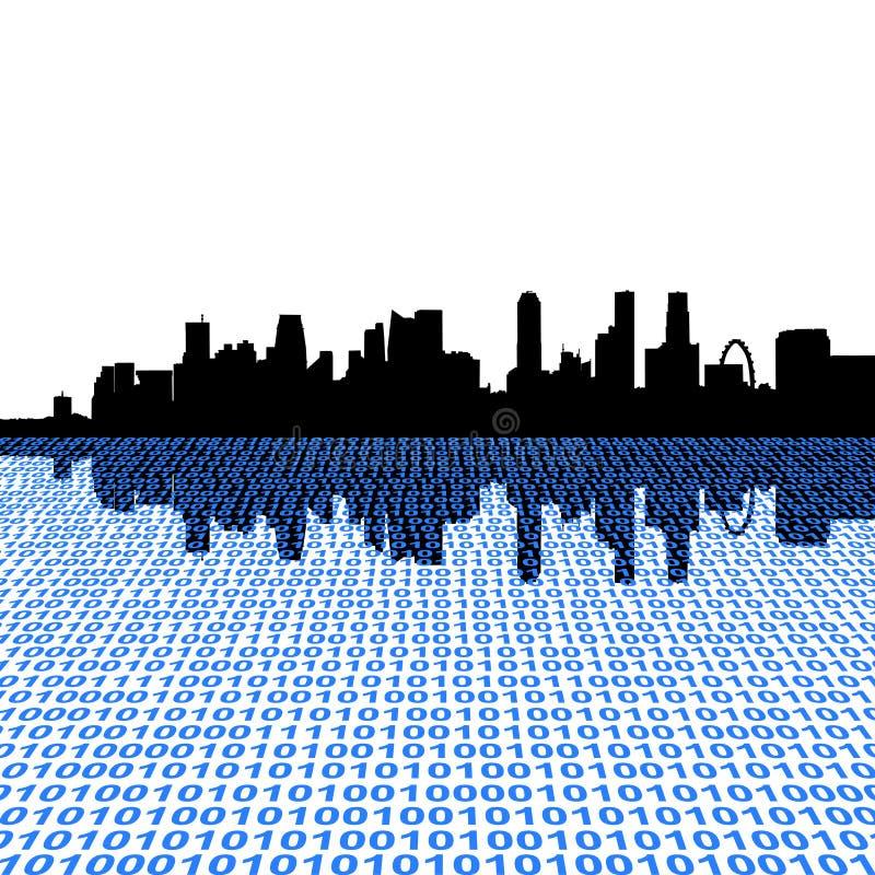 Horizon de Singapour avec la binaire illustration de vecteur
