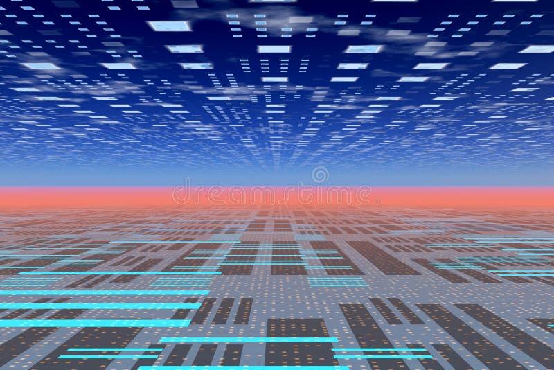 Horizon de Techno illustration libre de droits