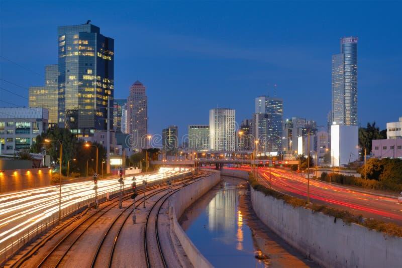 Horizon de Tel Aviv photos stock
