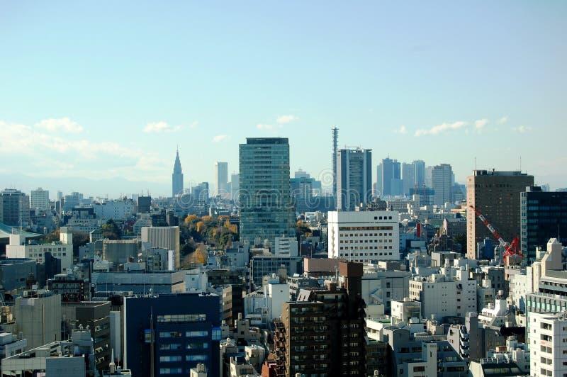 Horizon de Tokyo avec l'espace de copie. image stock