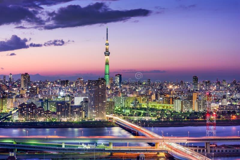 Horizon de Tokyo, Japon image libre de droits
