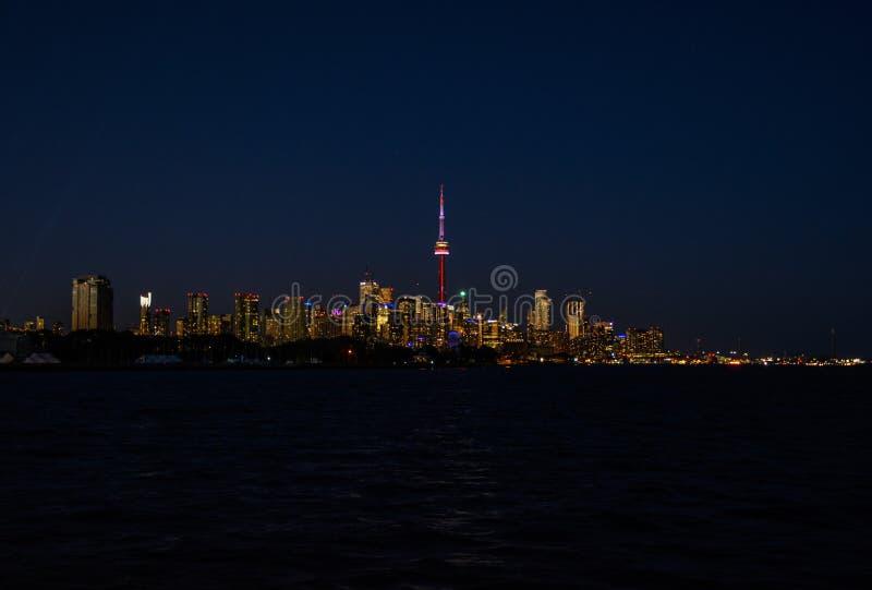 Horizon de Toronto au coucher du soleil photos libres de droits
