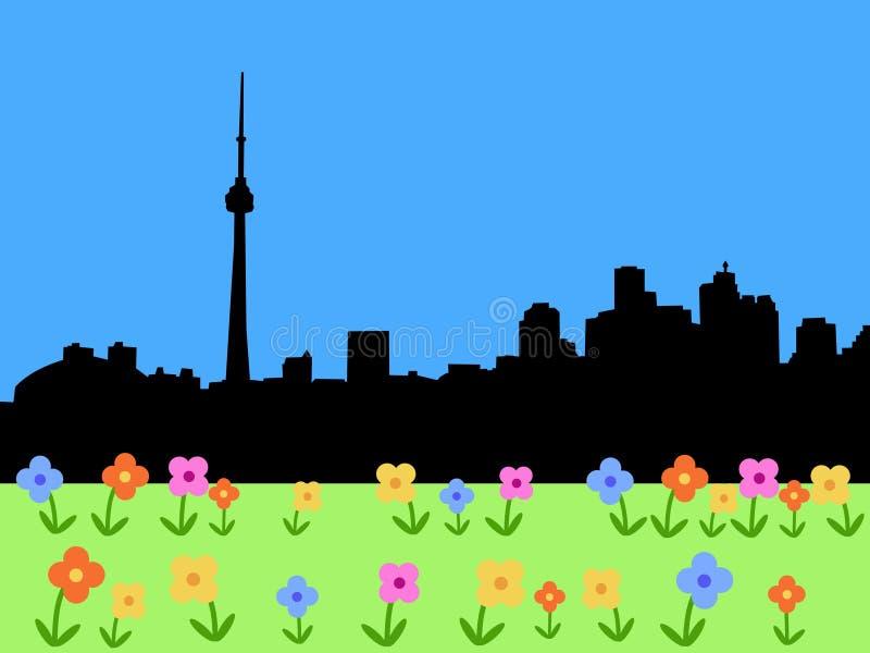 Horizon de Toronto au printemps illustration libre de droits