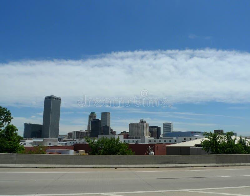 Horizon de Tulsa, l'Oklahoma, du centre photographie stock