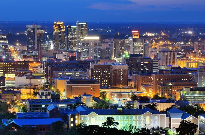 Horizon de van de binnenstad van Birmingham royalty-vrije stock afbeelding