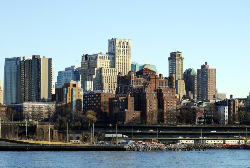 Horizon de van de binnenstad van Brooklyn stock foto's