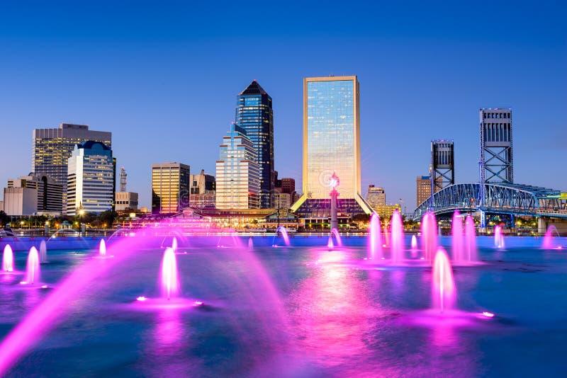 Horizon de van de binnenstad van Jacksonville, Florida royalty-vrije stock foto
