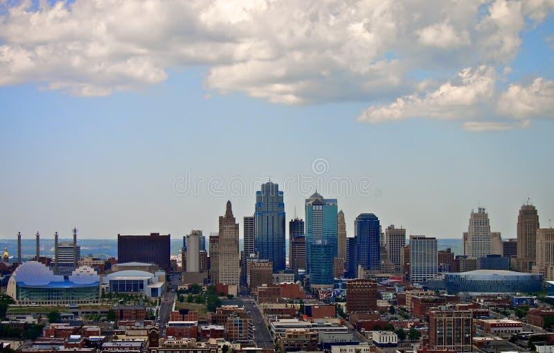 Horizon de Van de binnenstad van Kansas City royalty-vrije stock foto