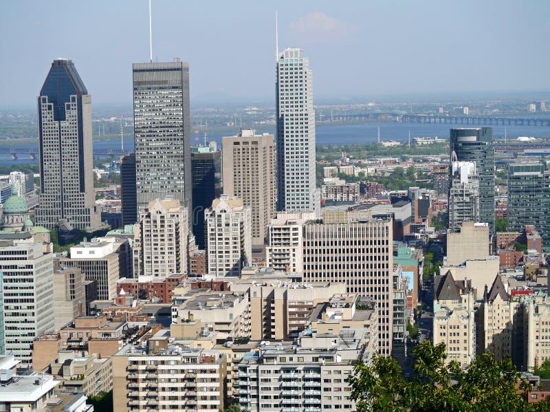 Horizon de van de binnenstad van Montreal royalty-vrije stock foto