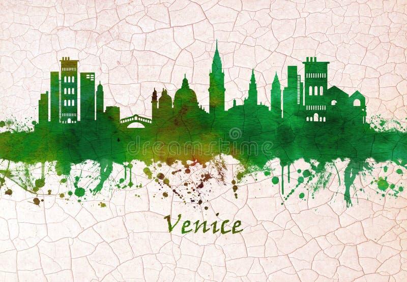 Horizon de Venise Italie illustration libre de droits