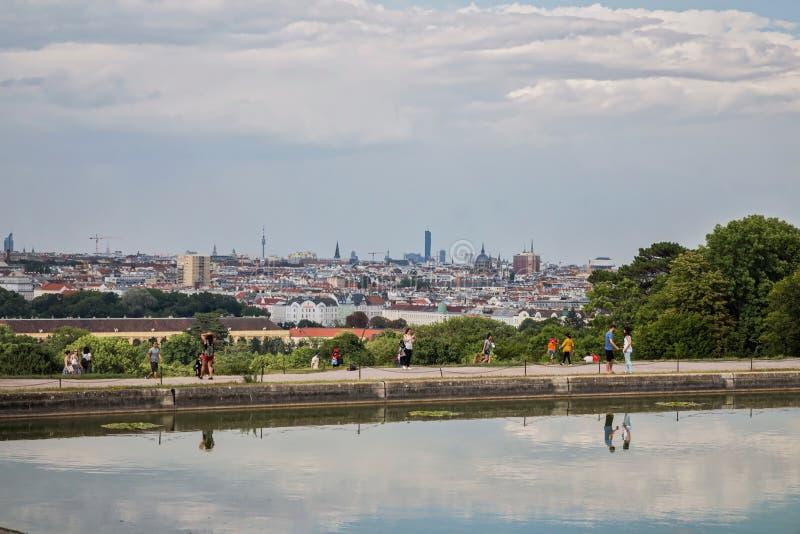 Horizon de Vienne de Schonbrunn photo stock