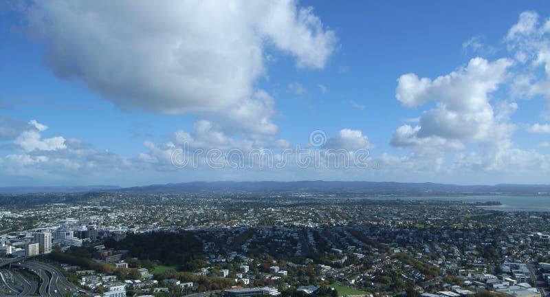 Horizon de ville à la tour de ciel, Auckland, Nouvelle-Zélande photographie stock libre de droits