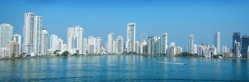 Horizon de ville de Carthagène photo stock