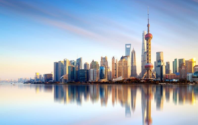 Horizon de ville de Changhaï photographie stock libre de droits
