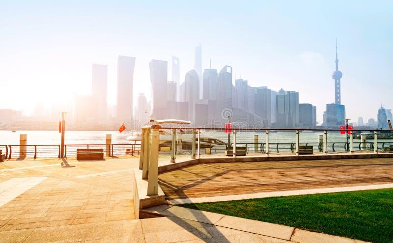 Horizon de ville de Changhaï photographie stock