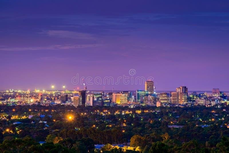 Horizon de ville d'Adelaïde photographie stock libre de droits