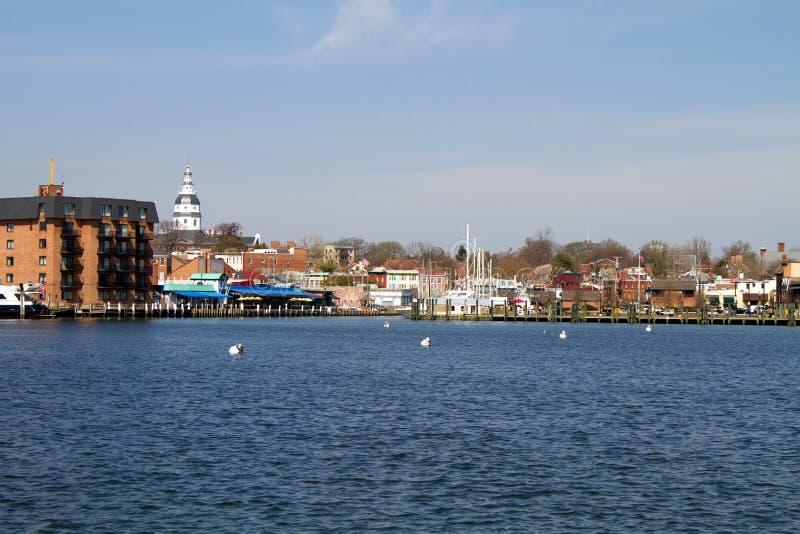 Horizon de ville d'Annapolis image stock
