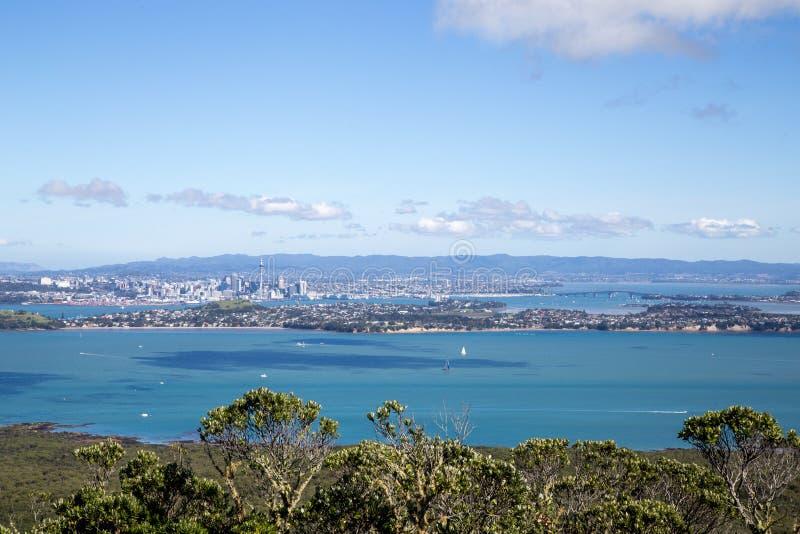 Horizon de ville d'Auckland photo stock