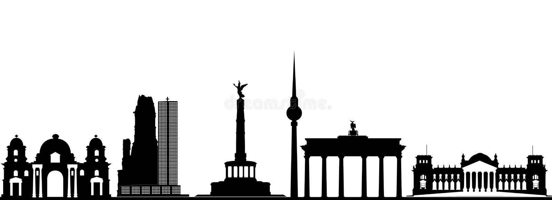 Horizon de ville de Berlin illustration stock