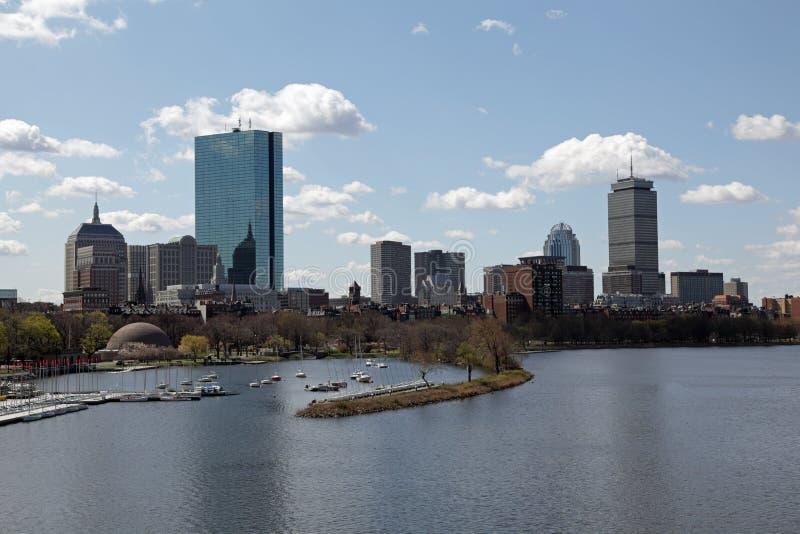 Horizon de ville de Boston photo libre de droits