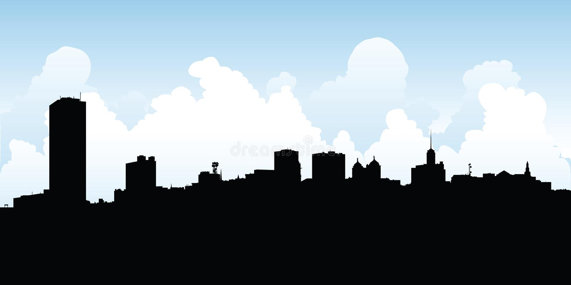 Horizon de ville de Buffalo illustration de vecteur