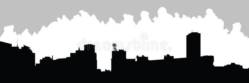 Horizon de ville de Buffalo illustration stock