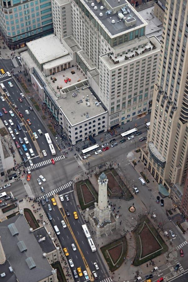 Horizon de ville de Chicago photographie stock