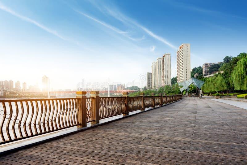 Horizon de ville de Chongqing photographie stock