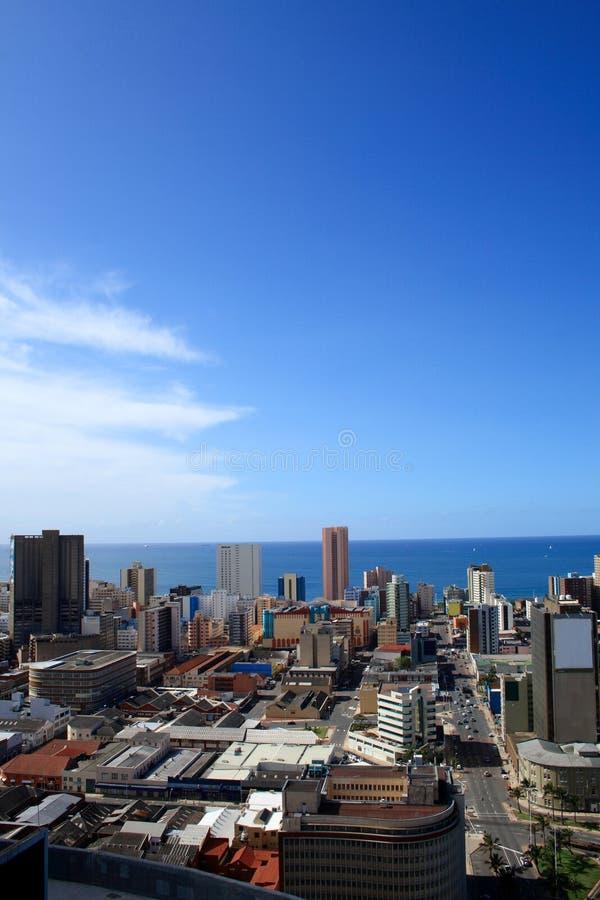 Horizon de ville de Durban images stock