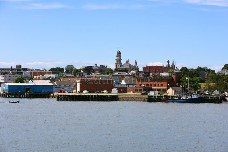 Horizon de ville de Gloucester, le Massachusetts photographie stock