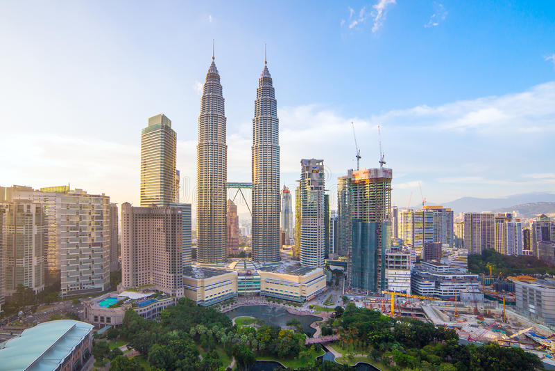 Horizon de ville de Kuala Lumpur, Malaisie images stock