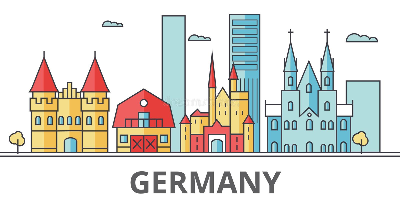 Horizon de ville de l'Allemagne illustration stock