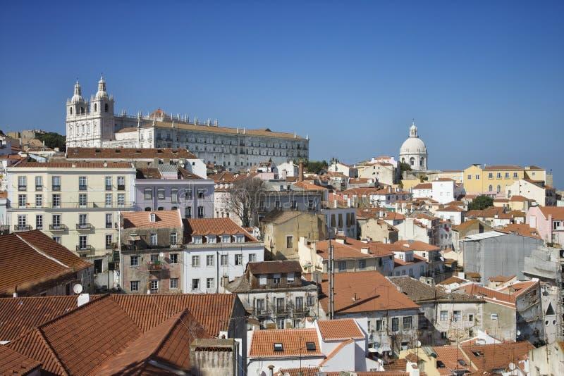 Horizon de ville de Lisbonne images libres de droits