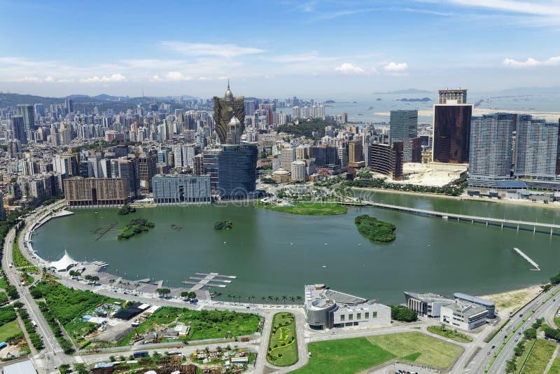 Horizon de ville de Macao photographie stock libre de droits