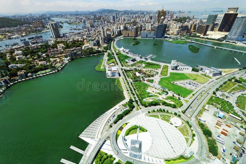 Horizon de ville de Macao images libres de droits