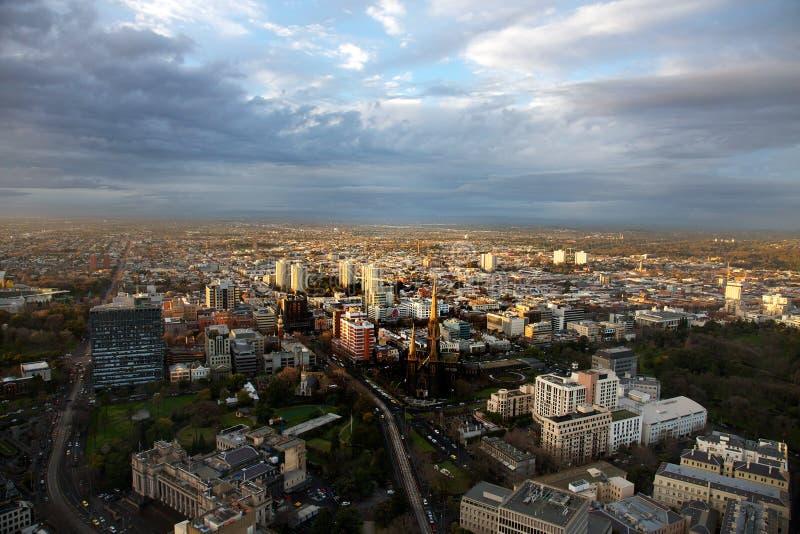 Horizon de ville de Melbourne image stock