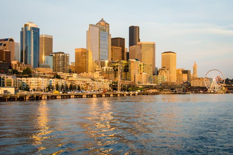 Horizon De Ville De Seattle Image éditorial