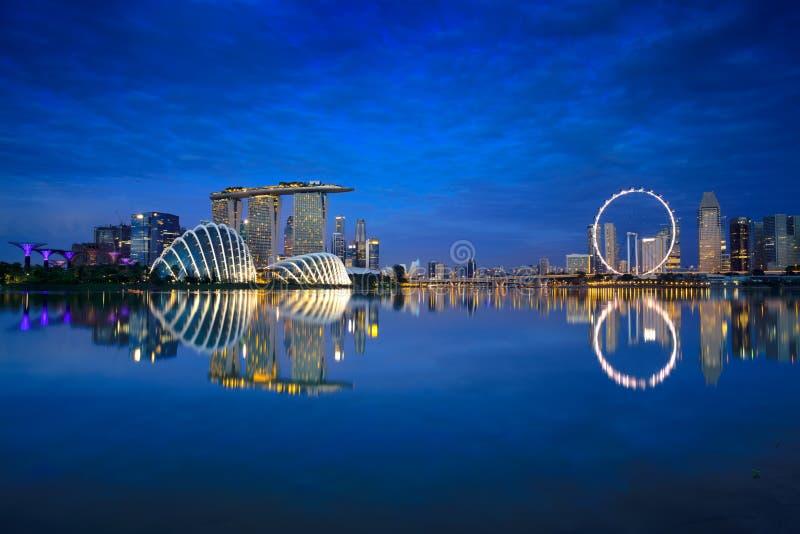 Horizon de ville de Singapour images stock
