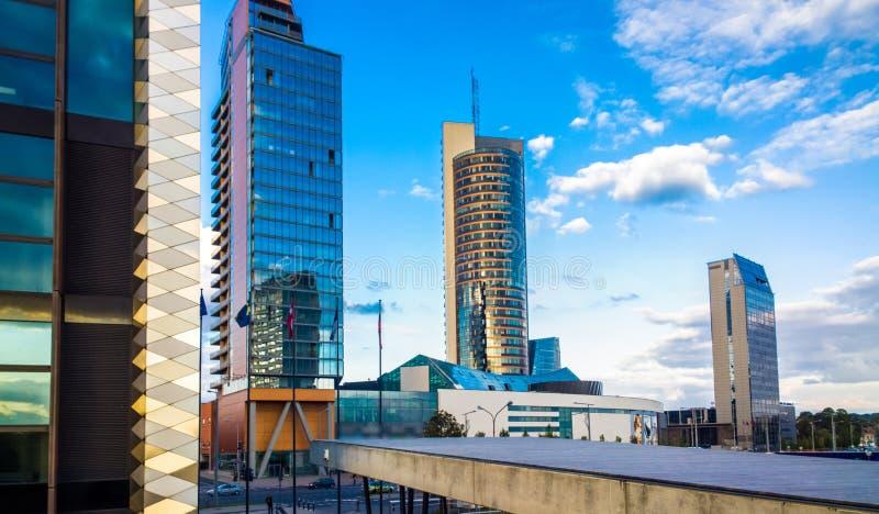 Horizon de ville de Vilnius photo libre de droits