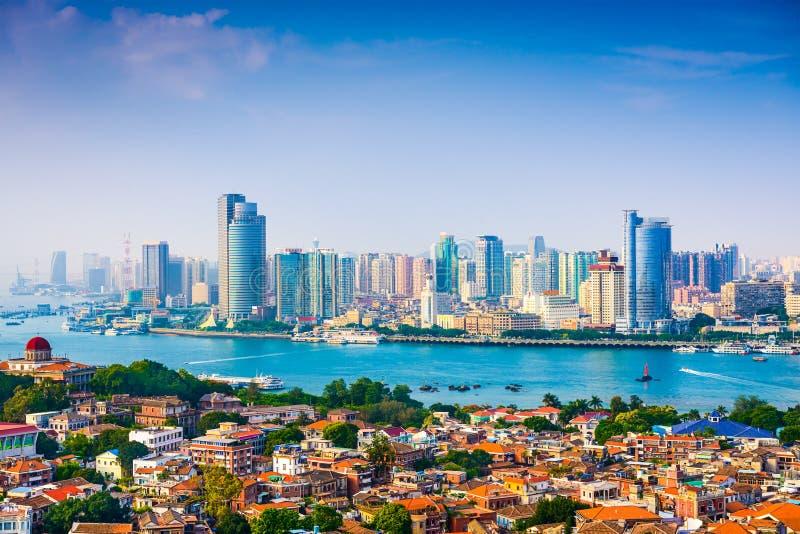 Horizon de ville de Xiamen photo stock