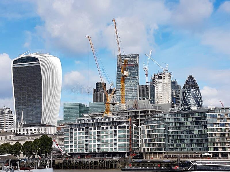 Horizon de ville de Londres photographie stock libre de droits
