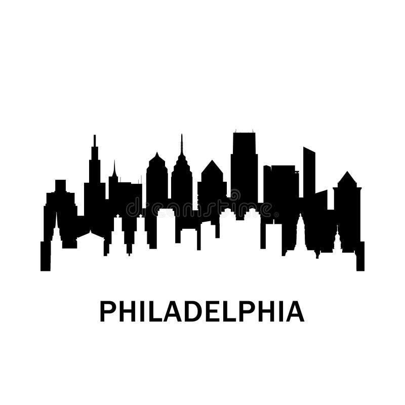 Horizon de ville de Philadelphie illustration de vecteur