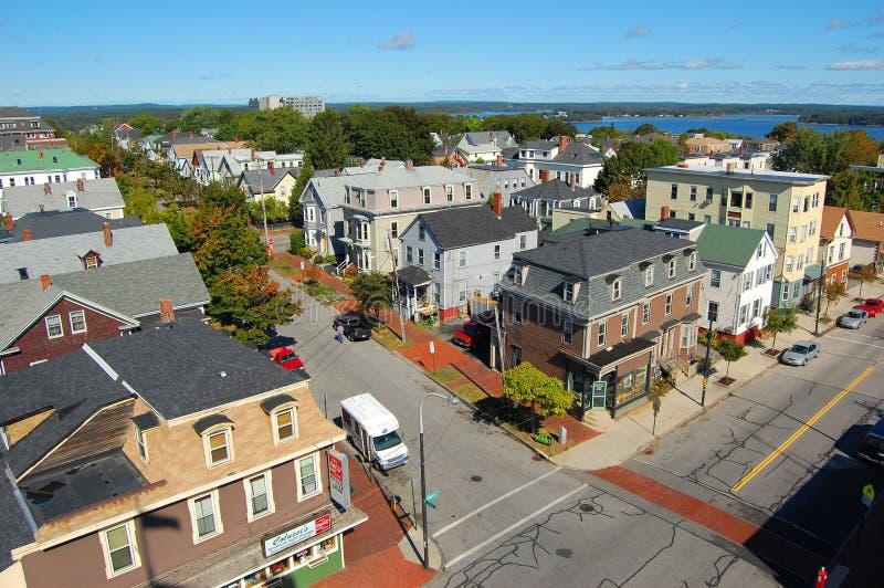 Horizon de ville de Portland, Maine, Etats-Unis photographie stock libre de droits