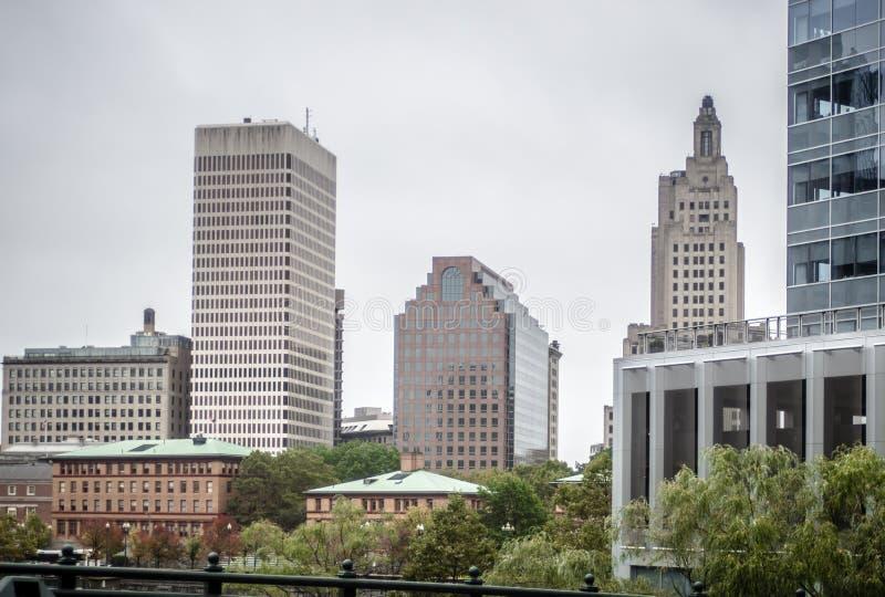 Horizon de ville de Providence Rhode Island en octobre 2017 images stock