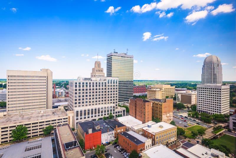 Horizon de Winston-Salem, la Caroline du Nord, Etats-Unis images libres de droits