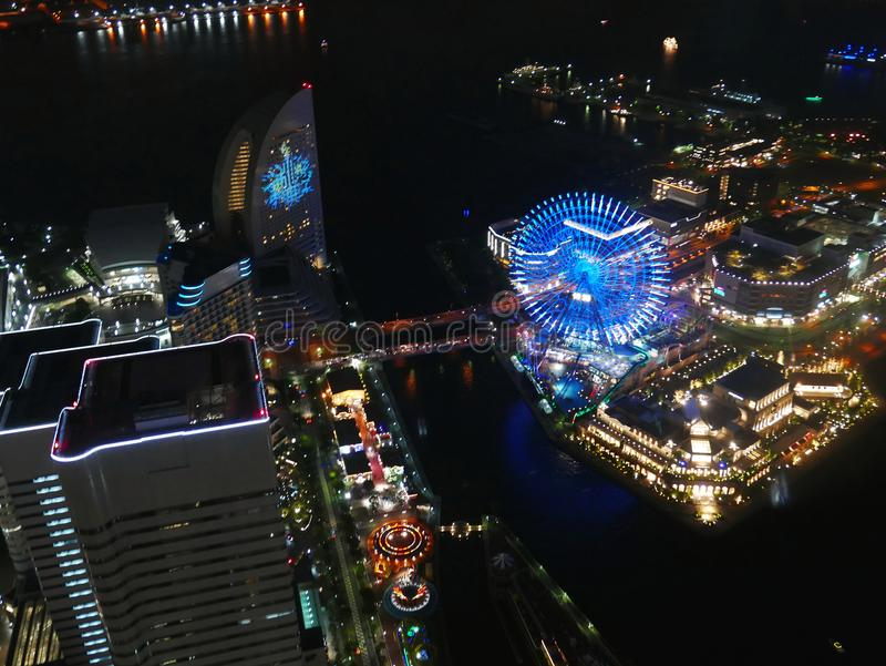 Horizon de Yokohama au Japon photographie stock