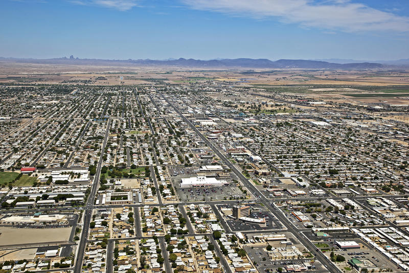 Horizon de Yuma, Arizona photos libres de droits