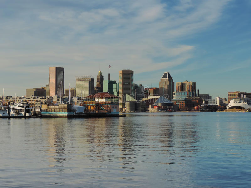 Horizon du centre de Baltimore images stock