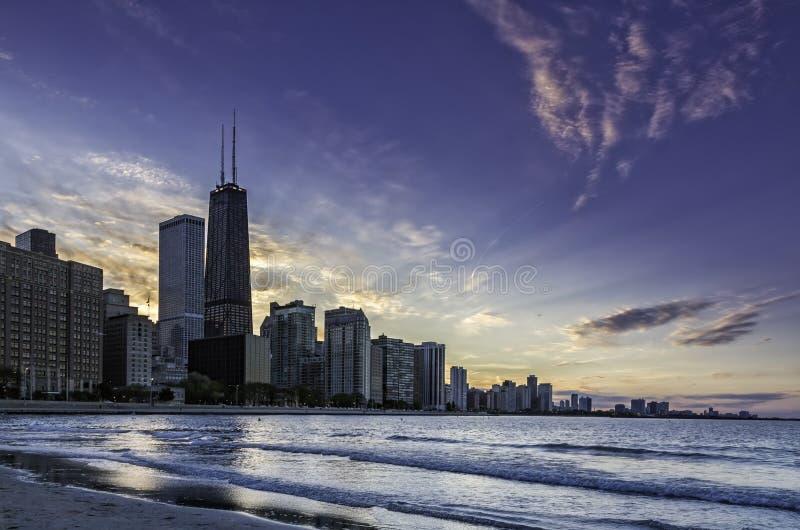 Horizon du centre de Chicago photo stock